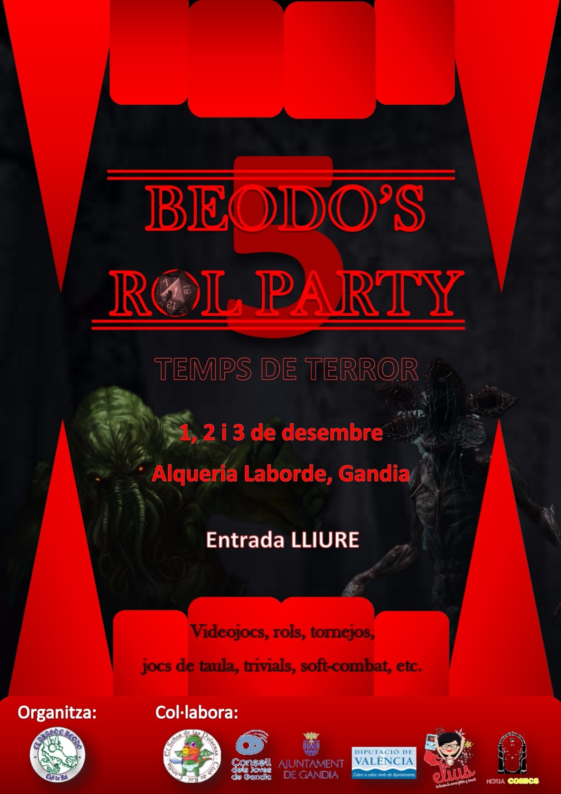 cartell 5 beodos party